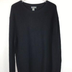 Banana Republic 100% cashmere black ribbed sweater